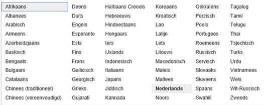 Vertalen via google for Vertaal ladeblok naar engels