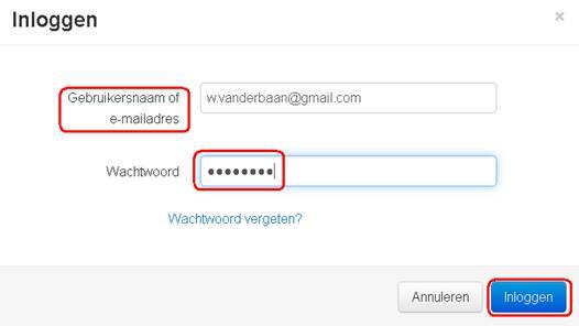 mijn gmail wachtwoord vergeten